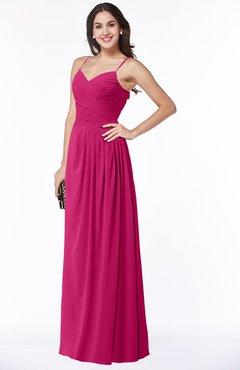 6cdd7fe7a542 Beetroot Purple Romantic Spaghetti Sleeveless Zipper Floor Length Ruching  Plus Size Bridesmaid Dresses