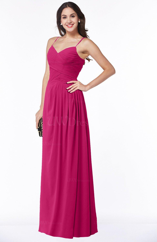 c8d91d436bd9 Beetroot Purple Romantic Spaghetti Sleeveless Zipper Floor Length Ruching  Plus Size Bridesmaid Dresses (Style D99036)