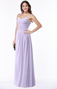 59ae7e95b87e Light Purple Romantic Spaghetti Sleeveless Zipper Floor Length Ruching Plus  Size Bridesmaid Dresses