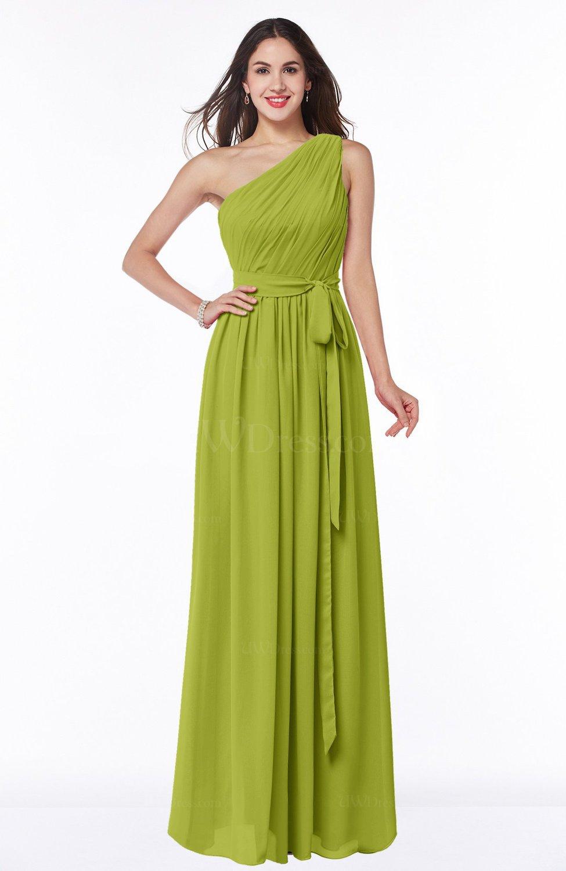3236332708 Casual Asymmetric Neckline Zipper Floor Length Ribbon Plus Size Bridesmaid  Dresses