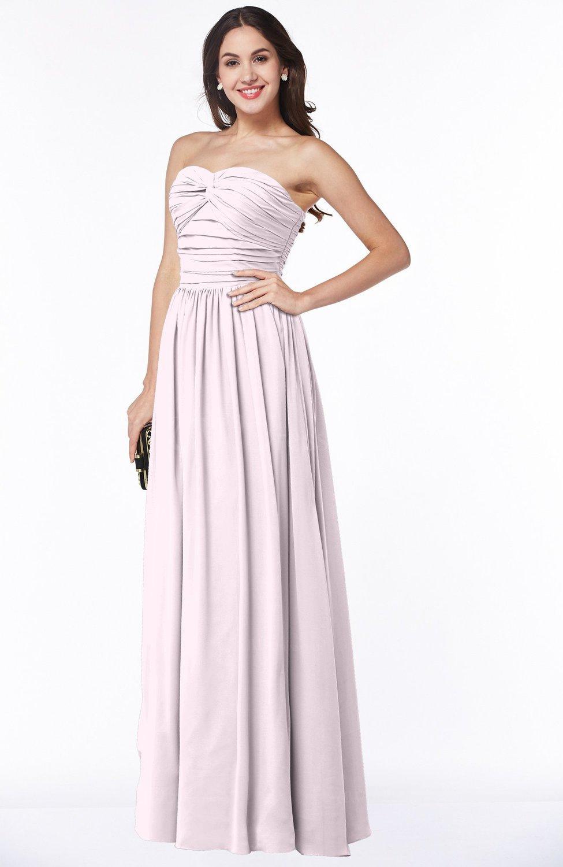 Blush Classic Sleeveless Zipper Floor Length Ruching Plus Size Bridesmaid  Dresses