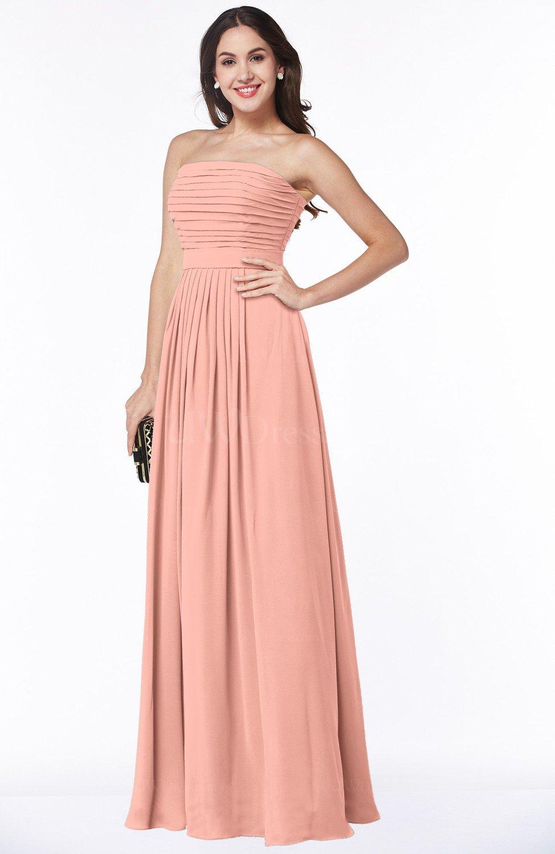0914d89974 Plus Size Peach Bridesmaid Dresses