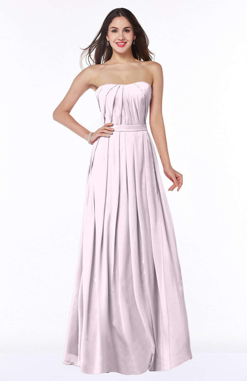 559ef16cd1dd8 Blush Simple Strapless Sleeveless Zip up Chiffon Ruching Plus Size  Bridesmaid Dresses (Style D42482)
