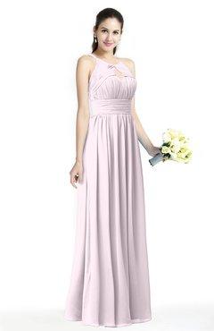 c436781610 Blush Plain A-line Jewel Sleeveless Zip up Floor Length Bridesmaid Dresses