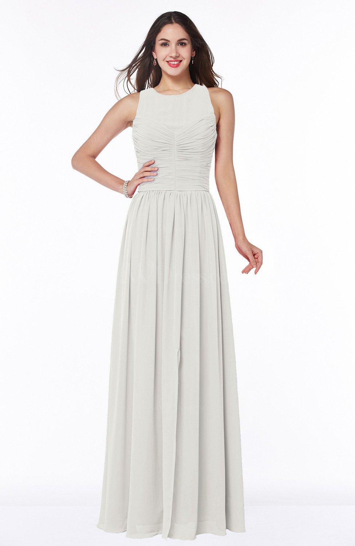 993a35ac98 Elegant A-line Jewel Chiffon Floor Length Plus Size Bridesmaid Dresses
