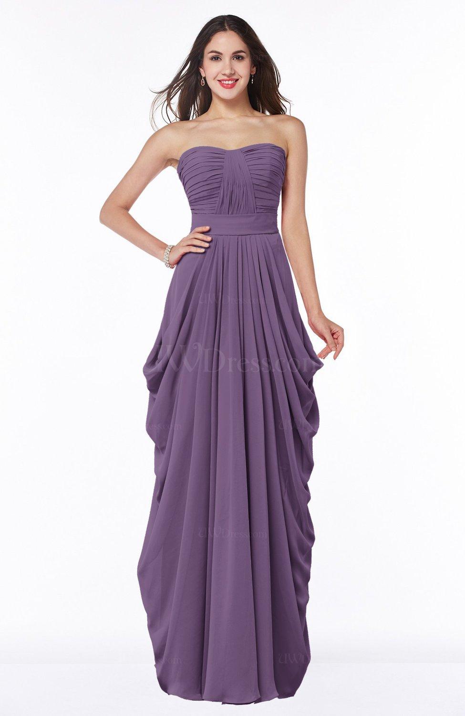 Eggplant Cinderella Half Backless Chiffon Floor Length Ruching Plus Size  Bridesmaid Dresses
