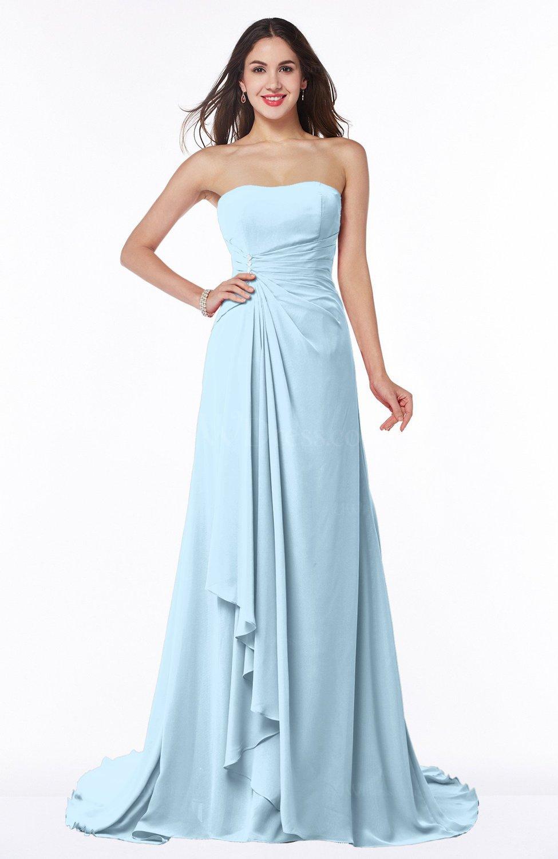 Ice Blue Prom Dresses Vintage Style