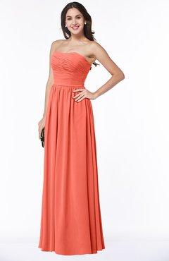 Plus Size Bridesmaid Dresses US$110.00 - US$119.99 Living Coral ...