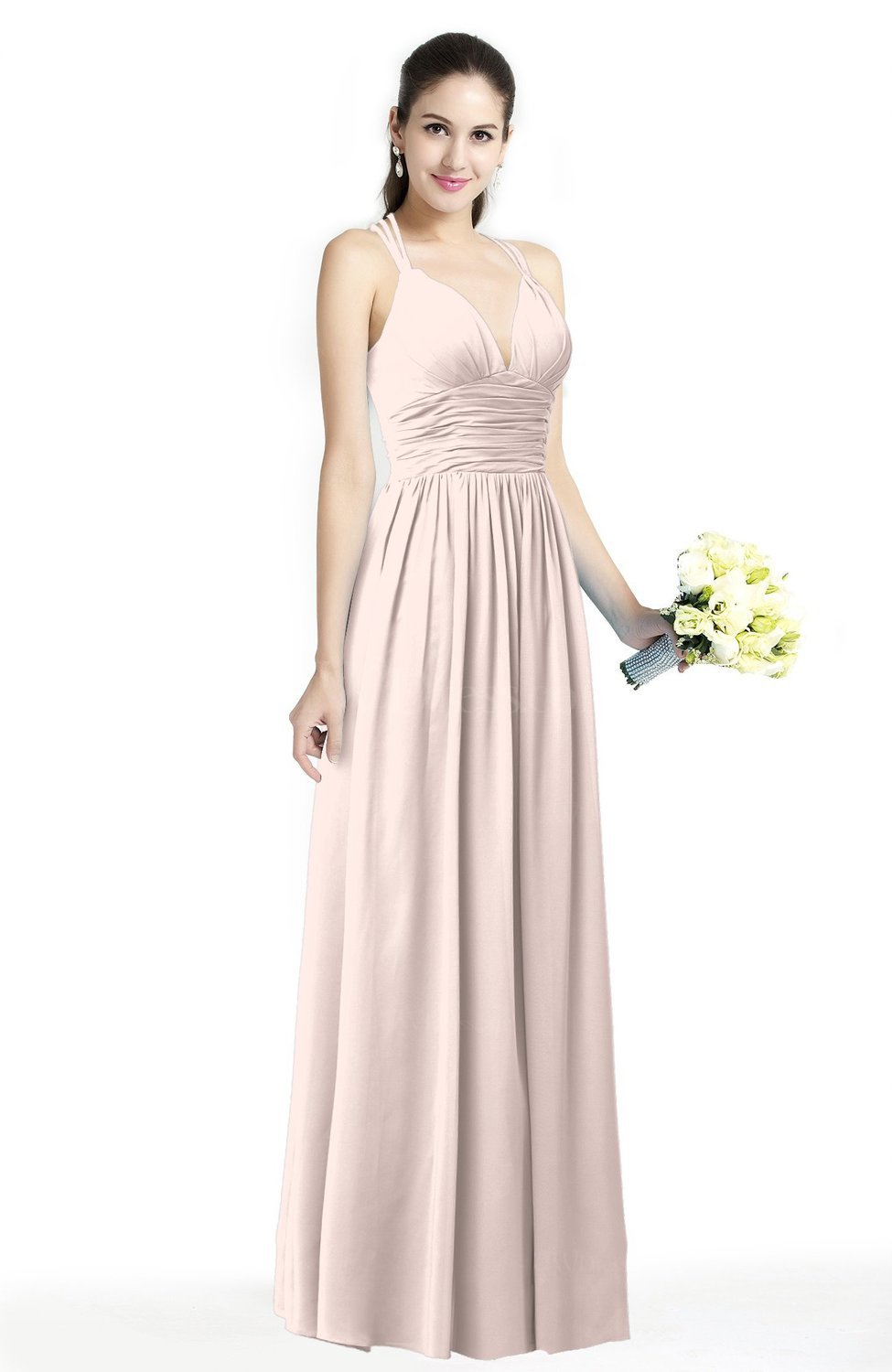 Simple Plus Size Wedding Dresses.Silver Peony Simple Spaghetti Sleeveless Chiffon Sash Plus Size Bridesmaid Dresses