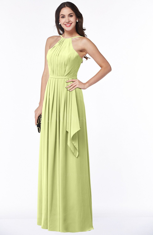 Lime Green Gorgeous A-line Spaghetti Sleeveless Zipper Ruffles Plus Size  Bridesmaid Dresses