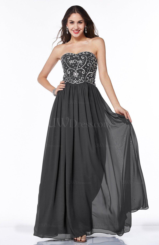 9f47b6885a2 Black Sexy A-line Strapless Chiffon Rhinestone Plus Size Prom Dresses  (Style D70262)