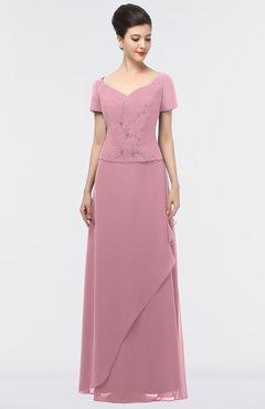 Plus Size Bridesmaid Dresses Light Coral color Floor Length ...
