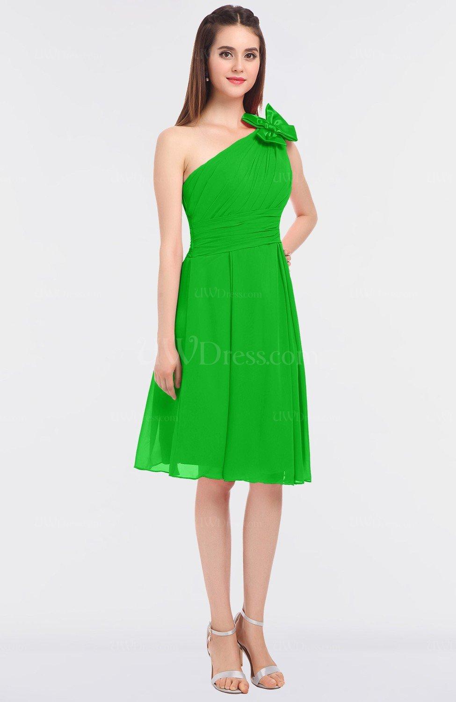 ea2ead9190b9a Classic Asymmetric Neckline Sleeveless Knee Length Ruching Bridesmaid  Dresses