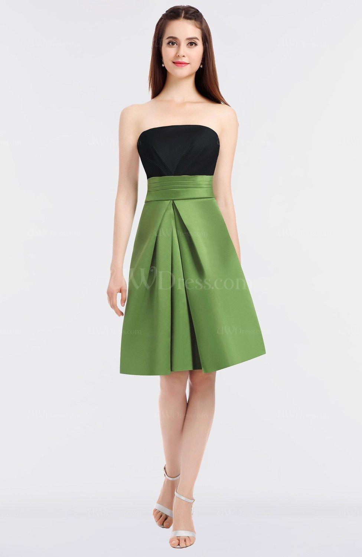 1c486522329 Black Sexy A-line Bateau Sleeveless Zip up Knee Length Bridesmaid Dresses  (Style D28675)