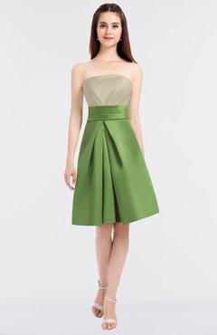 96a660ed055 Tan Sexy A-line Bateau Sleeveless Zip up Knee Length Bridesmaid Dresses