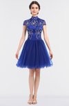 Gorgeous Ball Gown High Neck Hook up Mini Appliques Sweet 16 Dresses