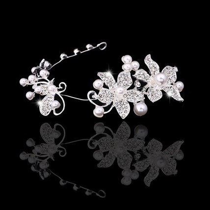 Simple Flowers Hair Jewelry Party Alloy