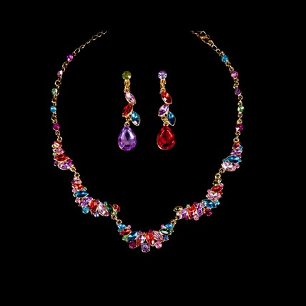 Engagement Drop Earrings Jewelry Sets Rhinestones Fashional