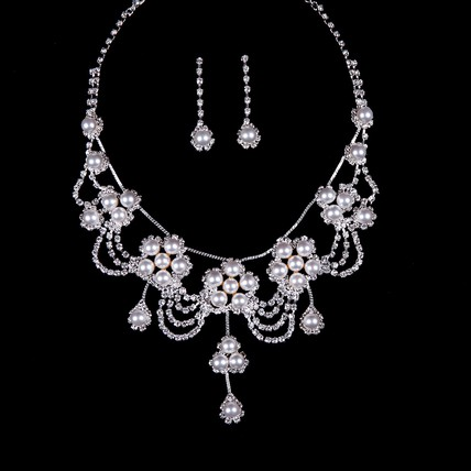 Imitation Pearl Vintage Necklaces High Quality Jewelry Sets Engagement