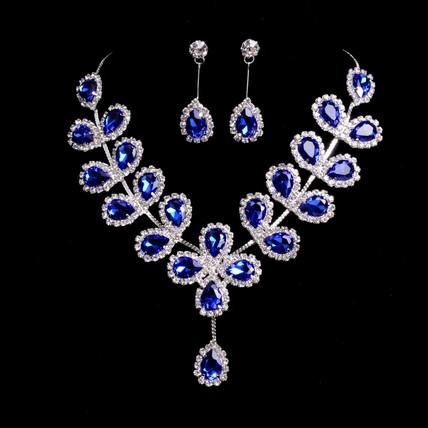 Beautiful Drop Earrings Rhinestones Gift Jewelry Sets