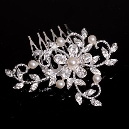 Anniversary Hair Comb Headpieces Rhinestones Beautiful