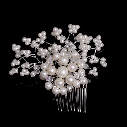Birthday Hair Comb Imitation Pearl Unique Headpieces