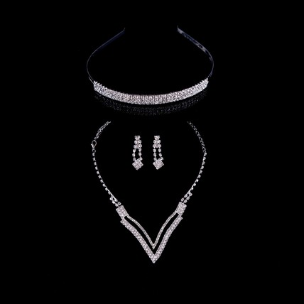 Stylish Drop Earrings Rhinestones Jewelry Sets Special Occasion