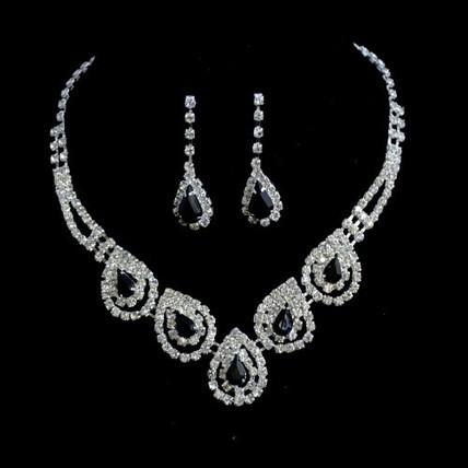 High Quality Drop Earrings Jewelry Sets Rhinestones Engagement