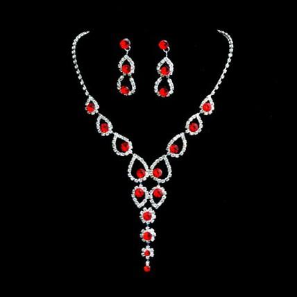 Anniversary Pendant Necklaces Jewelry Sets Eye-catching Rhinestones