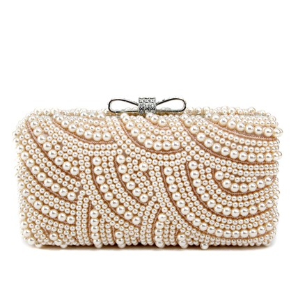 Single Strap Clutches Vintage Imitation Pearl Crystal/Rhinestone