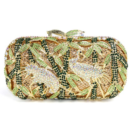 Single Strap Clutches Metal Gorgeous Birds