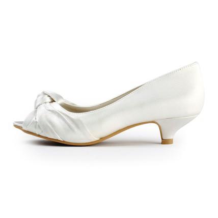 cream average pumps/heels graduation girls' peep toe satin