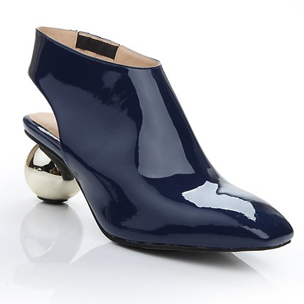 navy blue closed toe wedding shoes patent leather abnormal