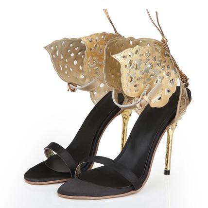 Sandals Wedding Shoes Women's Genuine Leather Dress Stiletto Heel Average