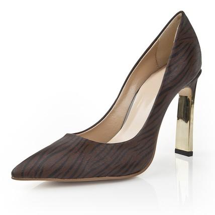 Leopard Print Wedding Shoes Abnormal/Fantasy Heels Average Women's Closed Toe PVC