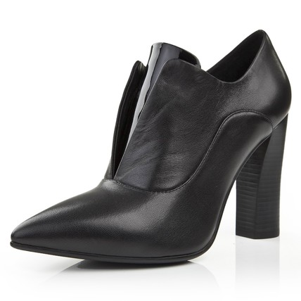 Bootie Pumps/Heels Average Party & Evening Genuine Leather Square Heel Women's