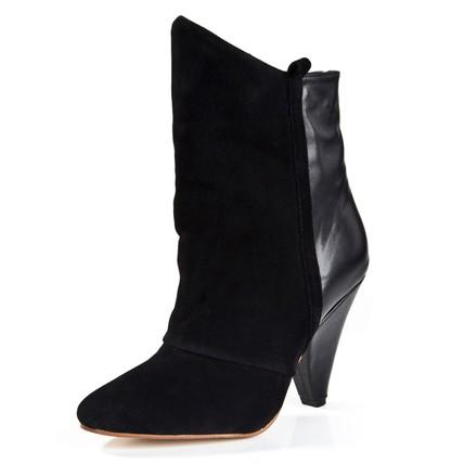 Honeymoon Pumps/Heels Girls' Split Joint Boots Booties/Ankle Boots Kitten Heel