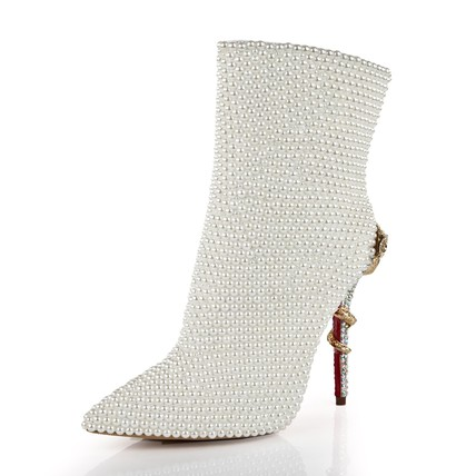 Women's Pumps/Heels Booties/Ankle Boots Zipper Cone Heel Average Casual