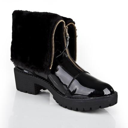 Black Girls Wedding Shoes Booties Ankle Boots Low Heel