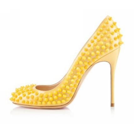 Average Wedding Shoes Girls' Patent Leather Rivet Wedding Pointed Toe