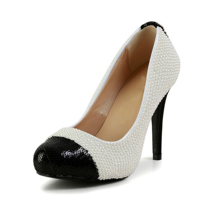 Medium Wedding Shoes Outdoor Patent Leather Girls' Stiletto Heel Cap-Toe