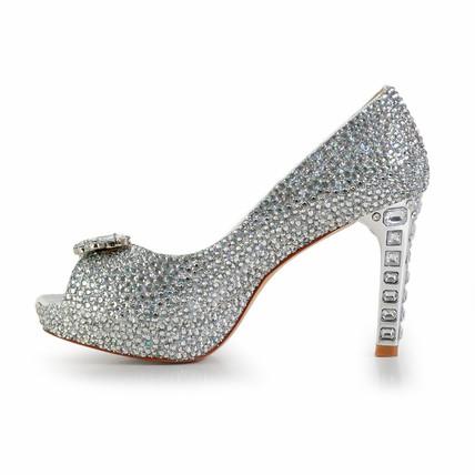 platinum crystal pumps/heels girls' abnormal/fantasy heels