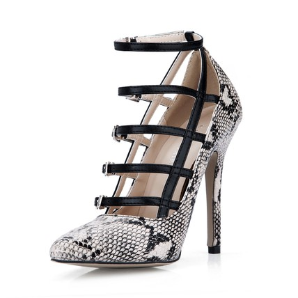 Women's Wedding Shoes Leopard Print Abnormal/Fantasy Heels Narrow Pointed Toe PU