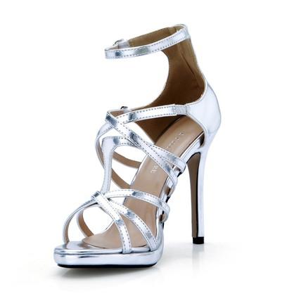 PU Platforms Cone Heel Girls' Party & Evening Buckle Pumps/Heels