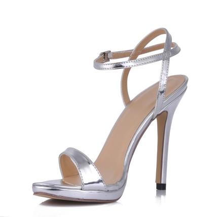 Cone Heel Wedding Shoes Girls' Dress Buckle Average Open Toe