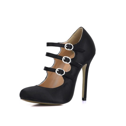 Buckle Sandals Women's Silk Like Satin Cone Heel Average Wedding