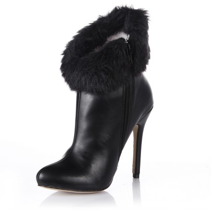 Booties/Ankle Boots Boots Boots Feather&Fur Women's Stiletto Heel Average
