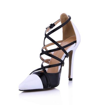 Pumps/Heels Sandals Graduation Opalescent Lacquers Buckle Stiletto Heel Narrow