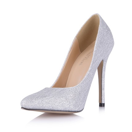 Sequined Cloth/Sparkling Glitter Wedding Shoes Honeymoon Narrow Stiletto Heel Sparkling Glitter Closed Toe