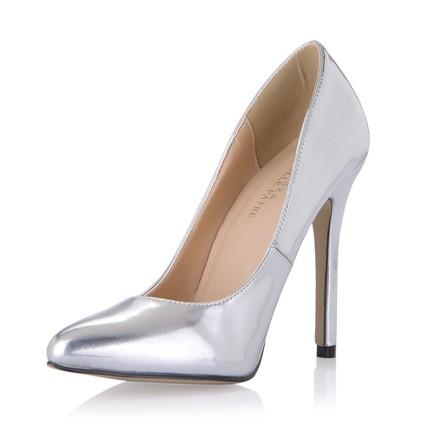 PU Wedding Shoes Stiletto Heel Women's Narrow Closed Toe Wedding